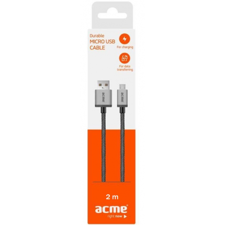 Kabel ACME Durable MicroUSB 2M 2.4A 12W